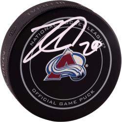 Nathan MacKinnon Colorado Avalanche Autographed Official Game Puck