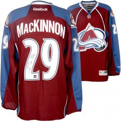 Nathan MacKinnon Colorado Avalanche Autographed Reebok Jersey with 2014 Calder Inscription