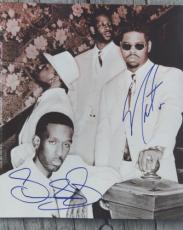 Nathan Morris And Shawn Stockman Autographed Boyz II Men 8x10 Photo