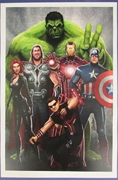 Nathan Szerdy MARVEL The Avengers 12x18 Print 127119