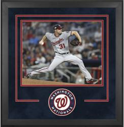 "Washington Nationals Deluxe 16"" x 20"" Horizontal Photograph Frame - Mounted Memories"