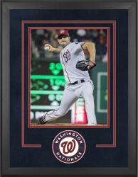 "Washington Nationals Deluxe 16"" x 20"" Vertical Photograph Frame - Mounted Memories"