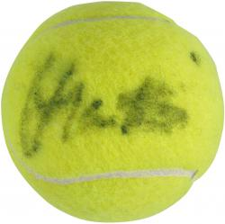 Martina Navratilova Autographed US Open Logo Tennis Ball