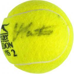 Martina Navratilova Autographed Wimbledon Logo Tennis Ball