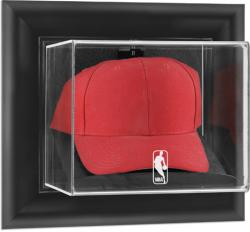 NBA Logo Black Framed Wall Mounted Cap Display Case