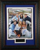 Friends Jennifer Aniston and Cast Signed 16x20 Framed Displa