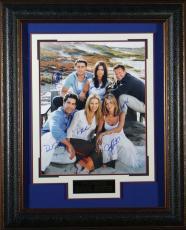 Friends Jennifer Aniston and Cast Signed 16x20 Framed Displa