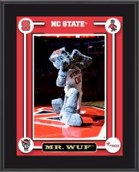 "NC State Wolfpack Mr. Wuf Mascot Sublimated 10.5"" x 13"" Plaque"