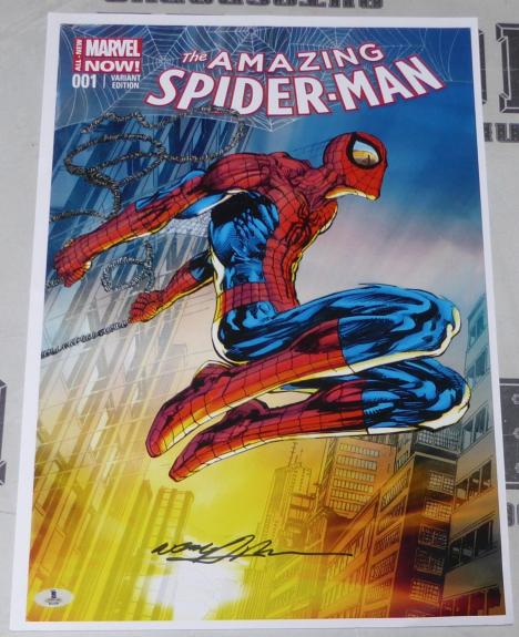 Neal Adams Signed 13x19 The Amazing Spider-Man 1 Comic Book Poster Print BAS COA