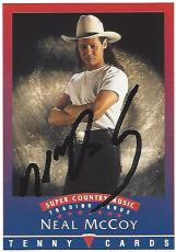 "NEAL MCCOY - COUNTRY MUSIC SINGER - Hits Include ""WINK"", ""NO DOUBT ABOUT IT"",  and BILLY'S GOT HIS BEER GOOGLES ON"" Signed 1992 TENNY CARDS"