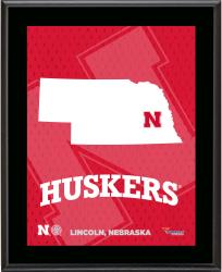 "Nebraska Cornhuskers Sublimated 10.5"" x 13"" State Plaque"