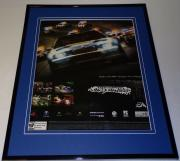 Need for Speed Most Wanted 2005 PS2 Xbox Framed 11x14 ORIGINAL Advertisement
