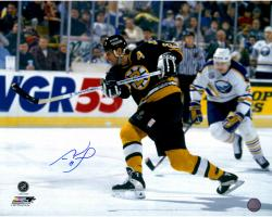 "Cam Neely Boston Bruins Autographed 16"" x 20"" Shooting Puck Photograph"