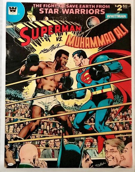 Neil Adams Signed Autographed Ali vs Superman Poster 24x32 JSA Authentic W704682