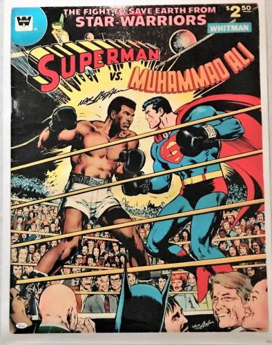 Neil Adams Signed Autographed Ali vs Superman Poster 24x32 JSA Authentic W704684