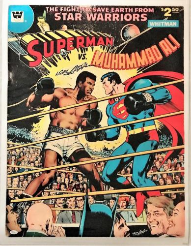Neil Adams Signed Autographed Ali vs Superman Poster 24x32 JSA Authentic W704685