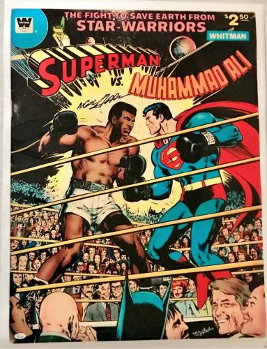 Neil Adams Signed Autographed Ali vs Superman Poster 24x32 JSA Authentic W704687