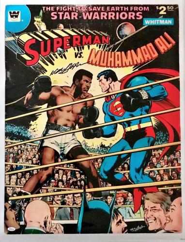 Neil Adams Signed Autographed Ali vs Superman Poster 24x32 JSA Authentic W704688