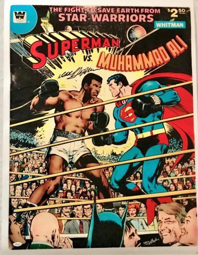 Neil Adams Signed Autographed Ali vs Superman Poster 24x32 JSA Authentic W704689