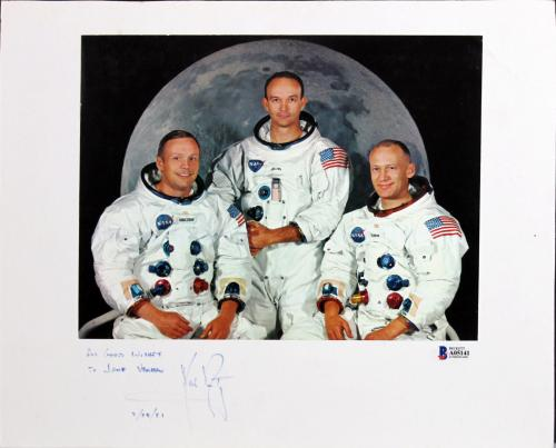 "Neil Armstrong ""All Good Wishes"" Signed 8X10 Photo BAS #A05141"