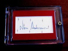 Neil Armstrong Apollo 11 Nasa Astronaut Signed Auto Christmas Card Cut Psa/dna