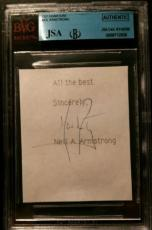 Neil Armstrong Apollo 11 Signed Authentic Autograph JSA/BGS