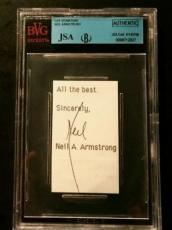 Neil Armstrong Apollo 11 Signed Calle Print Card Autograph AUTHENTIC JSA/BGS