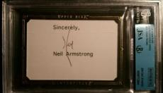 Neil Armstrong Apollo 11 Signed Card Autograph AUTHENTIC JSA/BGS