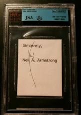 Neil Armstrong Apollo 11 Signed Moon Flag Card Autograph AUTHENTIC JSA/BGS