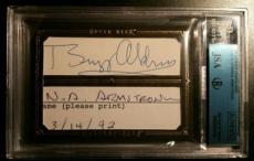 Neil Armstrong Buzz Aldrin Apollo 11 Crew Signed Autograph JSA/BGS