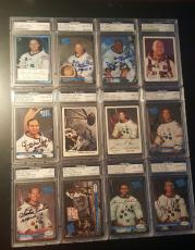 Neil Armstrong Buzz Aldrin John Young Signed Autographed All 12 MOONWALKERS PSA