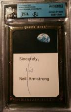 Neil Armstrong Buzz Aldrin Mike Collins Apollo 11 Crew Signed Autograph JSA/BGS
