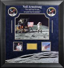 Neil Armstrong Framed Envelope w/ Handwritten Name BAS #A81572
