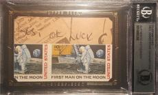 Neil Armstrong Handwriting Best Of Luck UD MASTERPIECES BECKETT AUTHENTIC AUTO