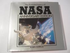 Neil Armstrong NASA Signed Autographed Illustrated History of NASA Book JSA COA