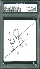 Neil Armstrong Signed 2.8x3.25 Cut Signature PSA/DNA Slabbed