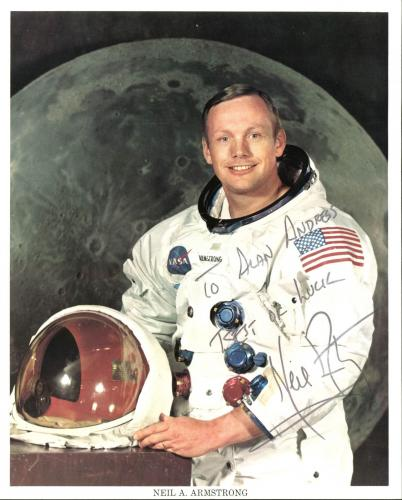 Neil Armstrong Signed 8X10 Apollo 11 Photo PSA/DNA #AA01987