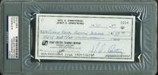 Neil Armstrong Signed Autographed 1987 Bank Check PSA/DNA