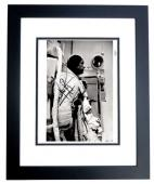 Neil Armstrong Signed - Autographed Apollo 11 Vintage NASA 8x10 inch Photo Deceased 2012 - BLACK CUSTOM FRAME - Guaranteed to pass PSA or JSA
