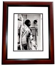 Neil Armstrong Signed - Autographed Apollo 11 Vintage NASA 8x10 inch Photo MAHOGANY CUSTOM FRAME - Deceased 2012 - Guaranteed to pass PSA or JSA