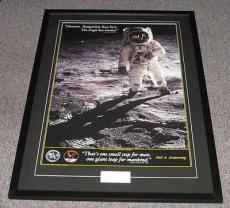Neil Armstrong Signed Framed 32x46 Photo Poster Display Full JSA LOA