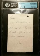 Neil Armstrong Signed Hand Written Personal Note JSA/BGS Authentic Autograph