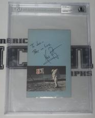 Neil Armstrong Signed Official NASA Postcard BAS Beckett COA Apollo 11 Autograph