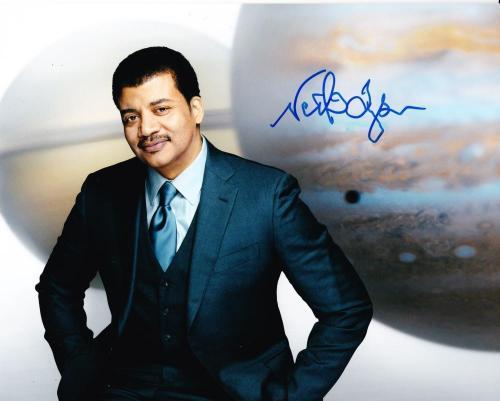 Neil deGrasse Tyson Signed 8x10 Photo Authentic Autograph Cosmos Proof Pic COA E