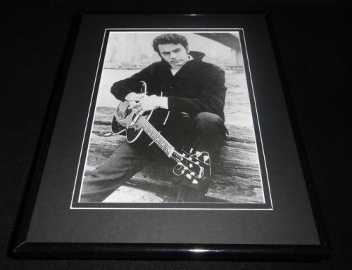 Neil Diamond 1967 holding guitar Framed 11x14 Photo Display