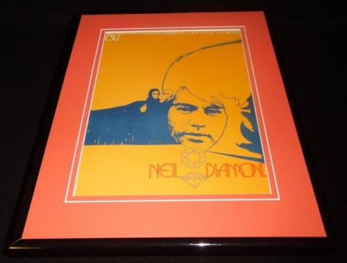 Neil Diamond 1972 Colorado State Concert Framed 11x14 Repro Poster Display