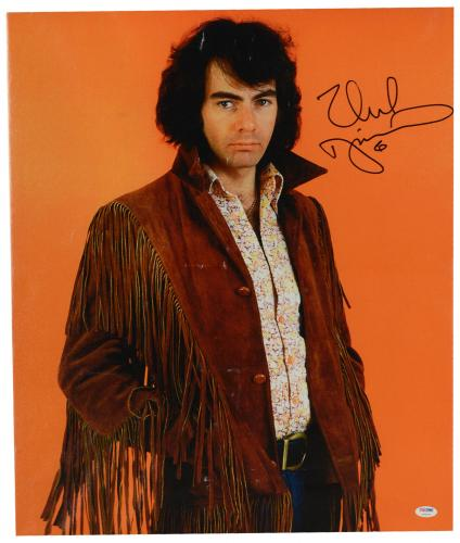 "Neil Diamond Autographed 20""x 24"" Brown Jacket Stretched Canvas - BAS COA"