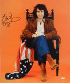 """Neil Diamond Autographed 20""""x 24"""" USA Flag Stretched Canvas - BAS COA"""