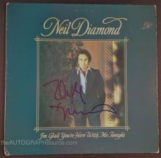 "Neil Diamond Autographed ""I'm Glad You're Here With Me"" Album Signed PSA DNA COA"
