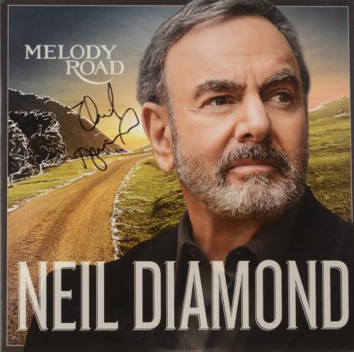 Neil Diamond Autographed Melody Road Album Cover - PSA/DNA COA